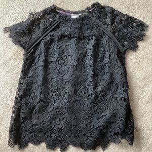 Anthropologie Guest Editor Floral Lace Blouse Top